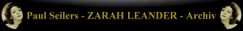 Paul Seilers ZARAH LEANDER Archiv
