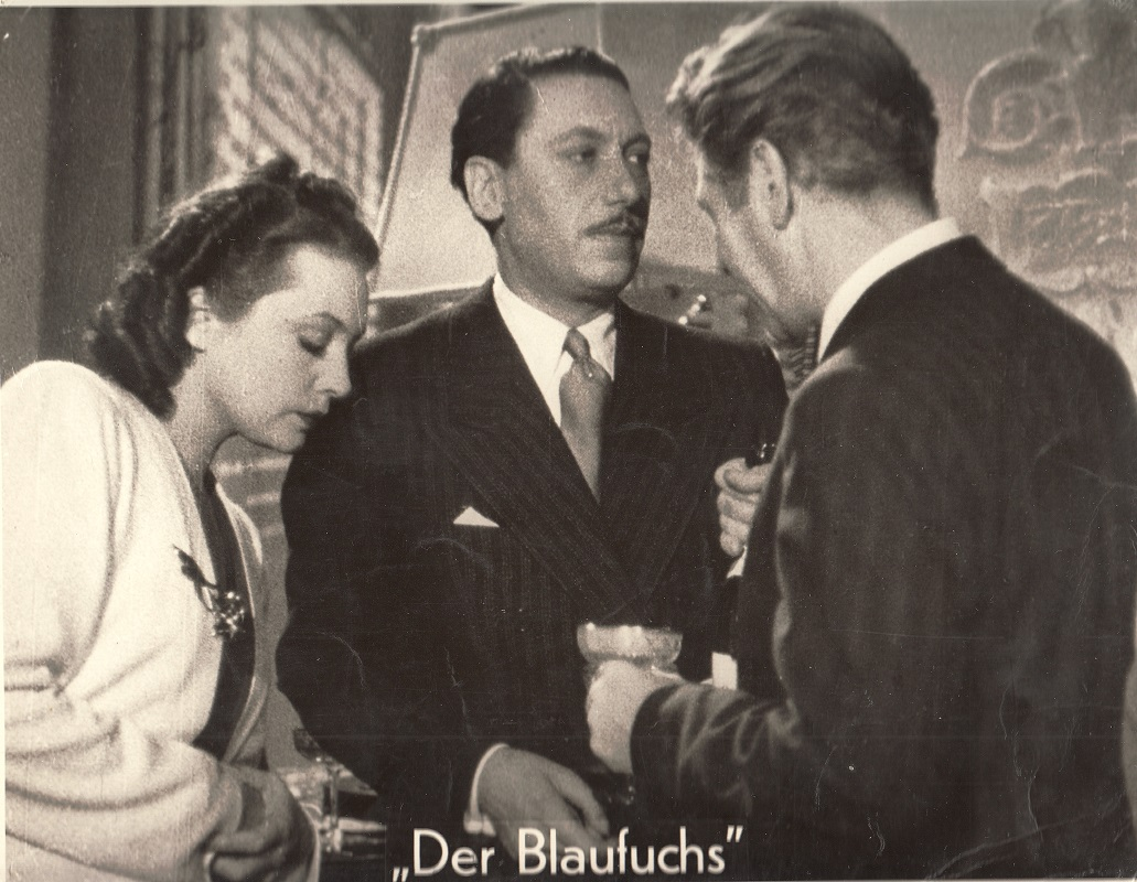 "38b127c3 Zarah Leander, Willy Birgel und Paul Hörbiger in dem Film ""Der Blaufuchs"" 1938"