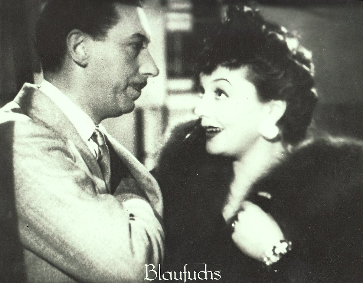 "38b143c2  Zarah Leander und Willy Brgel in dem Film ""Der Blaufuchs"