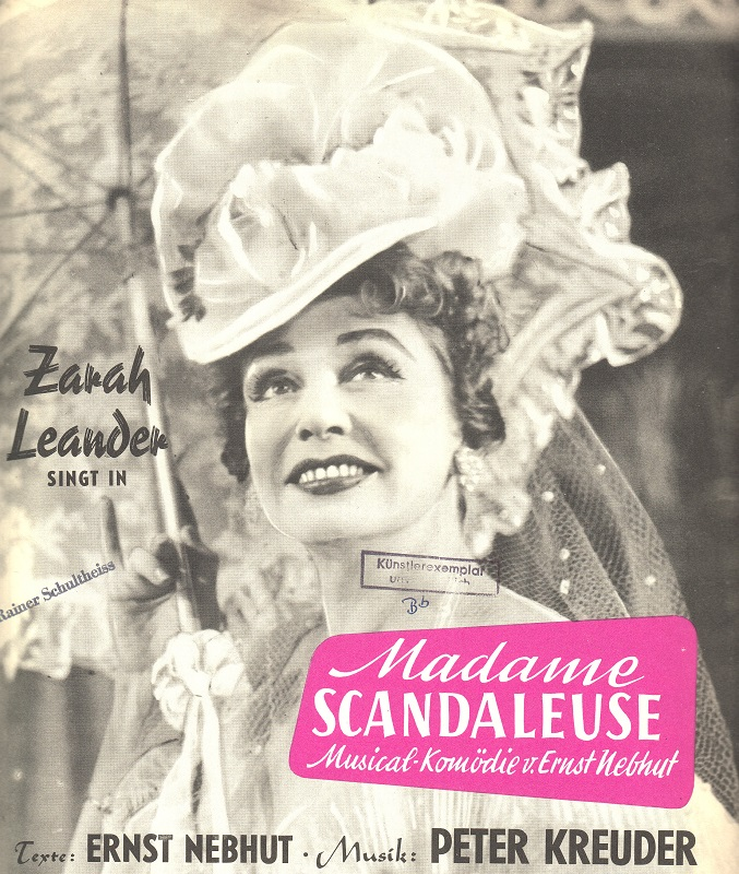58b015c  Notenheft zu Madame Scandaleuse 1958